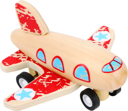 Blue Pull-Back Airplane