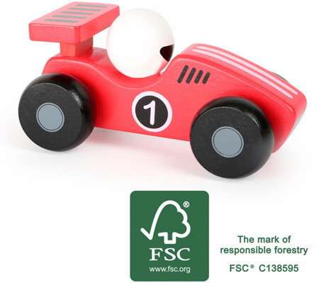 Red wooden dasher car